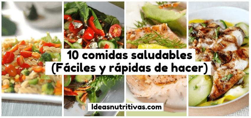 10 comidas saludables f ciles y r pidas de hacer ideas for Comidas rapidas de preparar