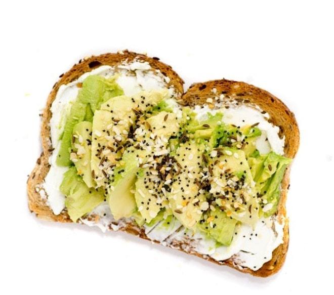 comidas saludables con Una riquísima tostada de aguacate