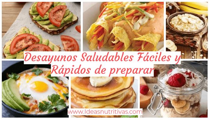 15 Desayunos Saludables Fáciles Y Rápidos De Preparar